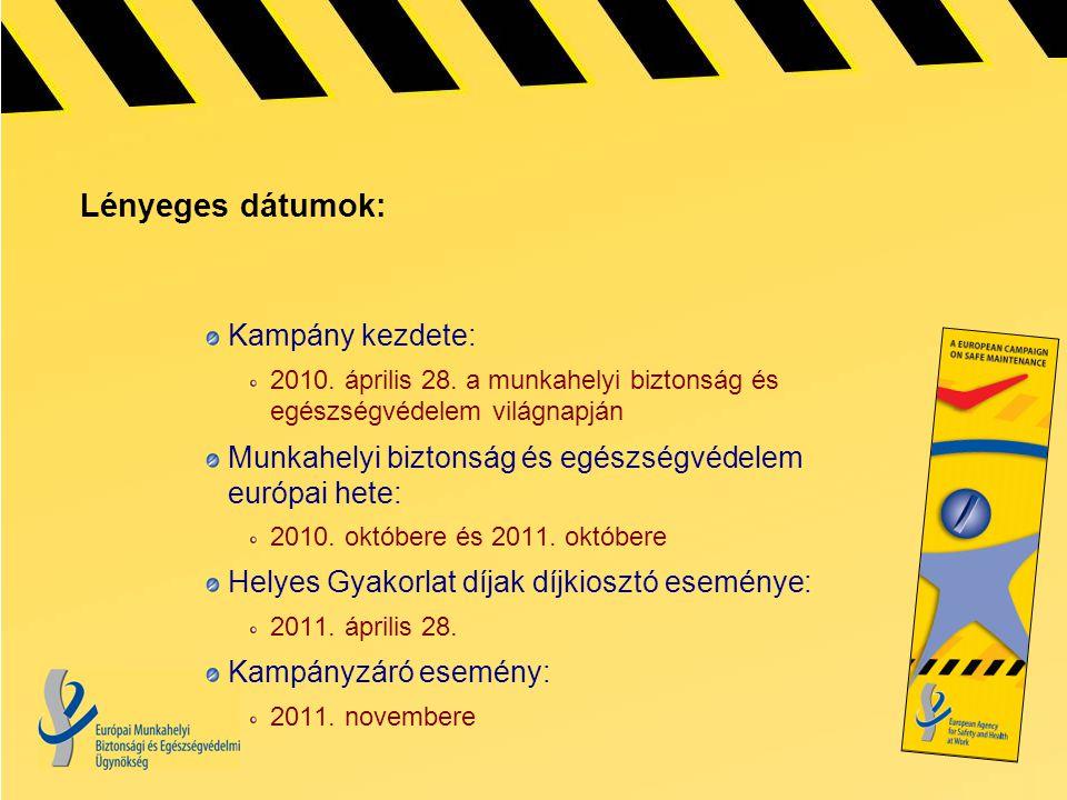 Lényeges dátumok: Kampány kezdete: 2010. április 28.