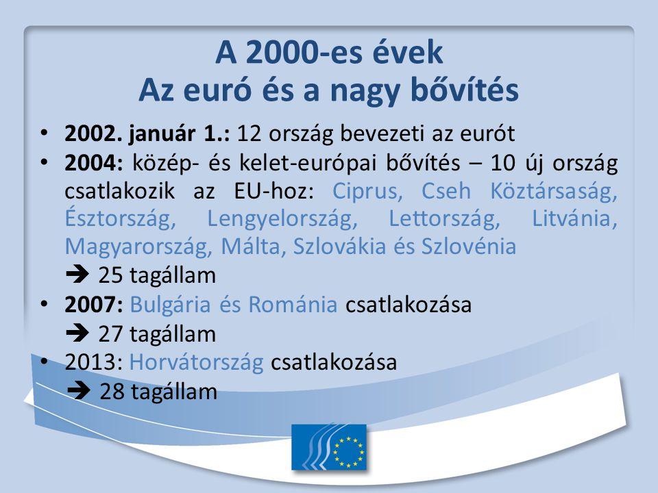 A 2000-es évek Az euró és a nagy bővítés 2002.