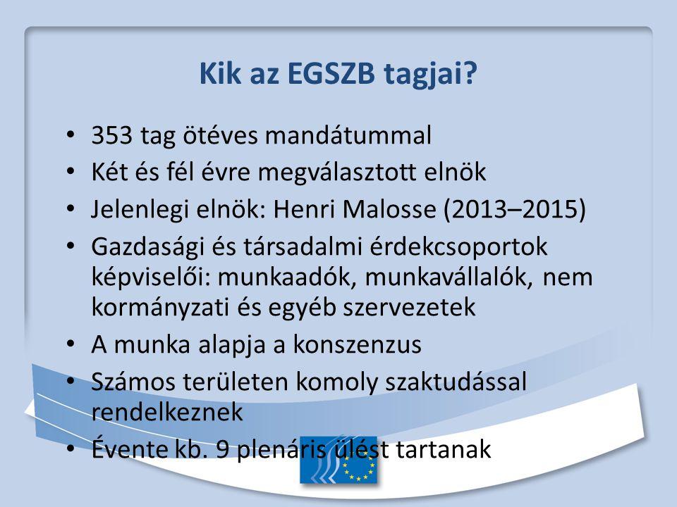 Kik az EGSZB tagjai.