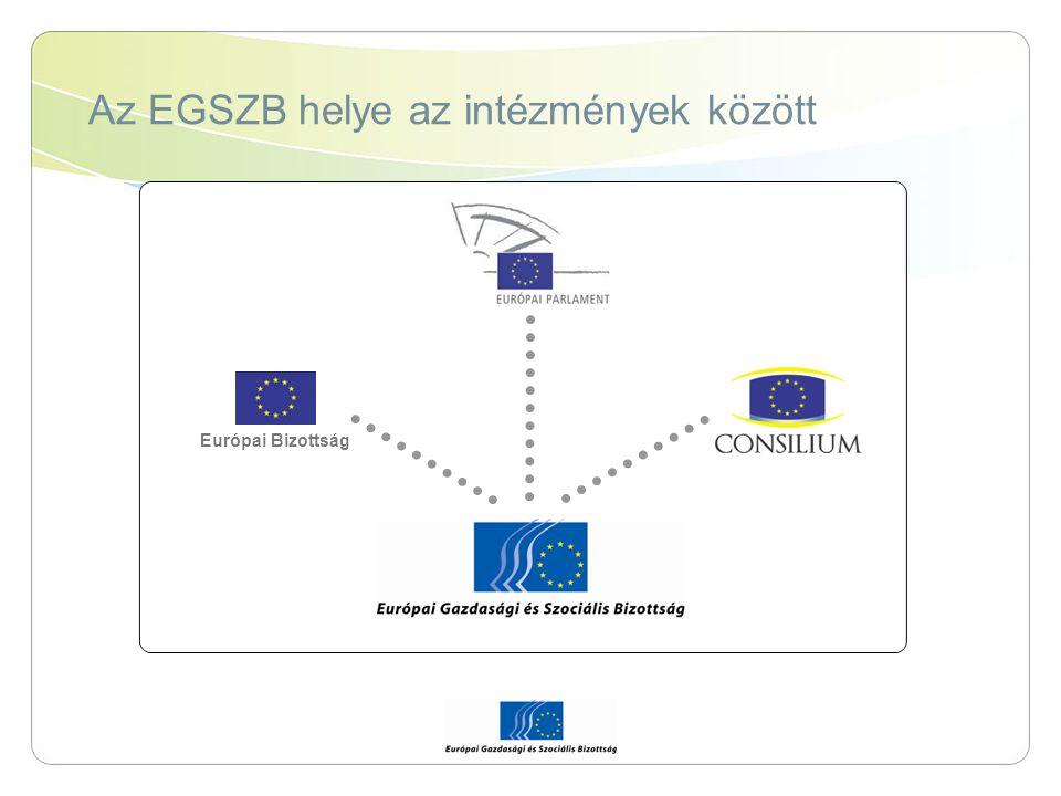 Az EGSZB helye az intézmények között Európai Bizottság