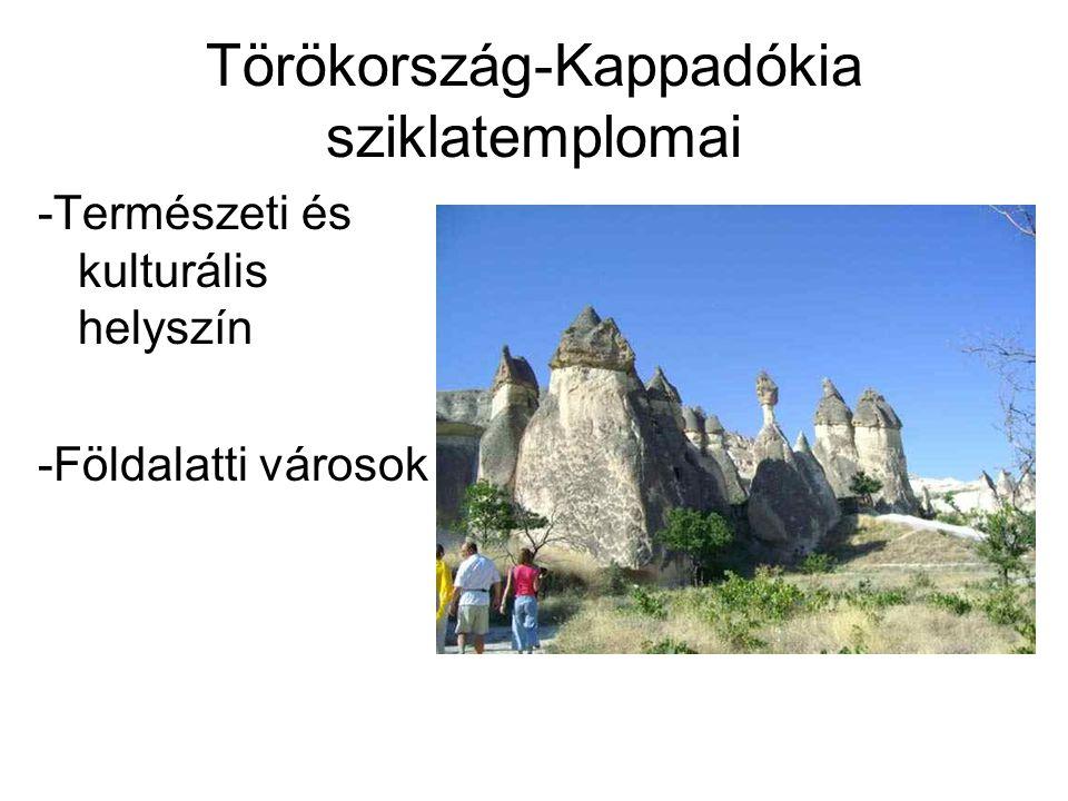 Törökország-Kappadókia sziklatemplomai -Természeti és kulturális helyszín -Földalatti városok