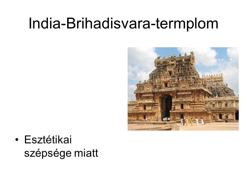India-Brihadisvara-termplom Esztétikai szépsége miatt