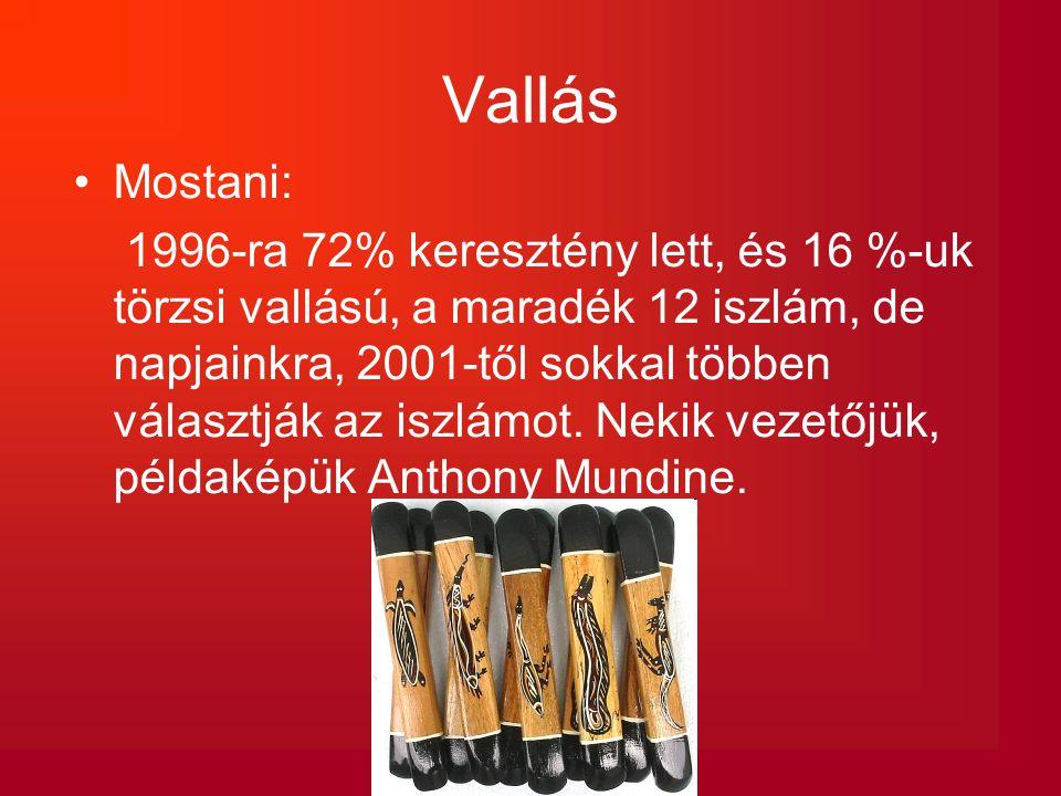 Vallás Mostani: 1996-ra 72% keresztény lett, és 16 %-uk törzsi vallású, a maradék 12 iszlám, de napjainkra, 2001-től sokkal többen választják az iszlá