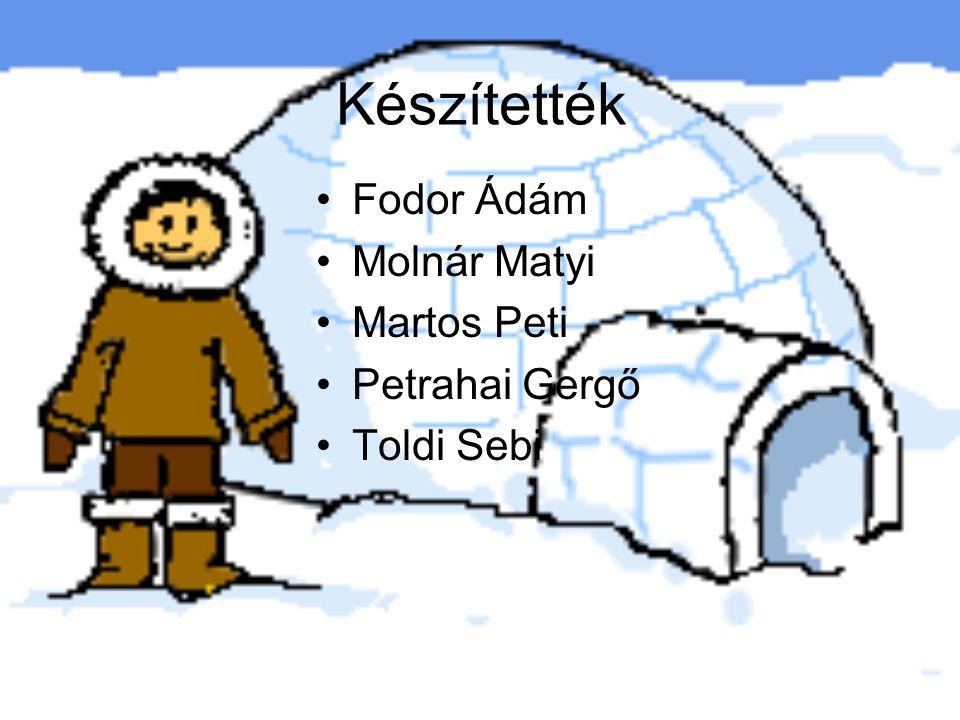 Készítették Fodor Ádám Molnár Matyi Martos Peti Petrahai Gergő Toldi Sebi