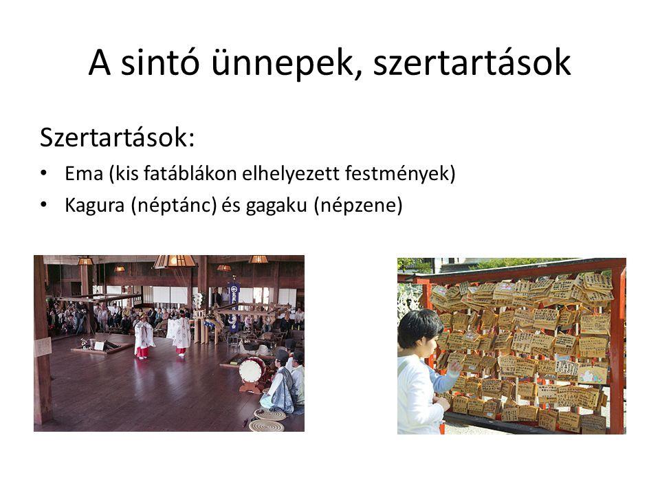 A sintó főbb ágai Fukko sintó - a sintó helyreállítása Kokka sintó - állam sintó Szentély sintó - kegyhely sintó Szekta sintó - állami sintótól elkülönített