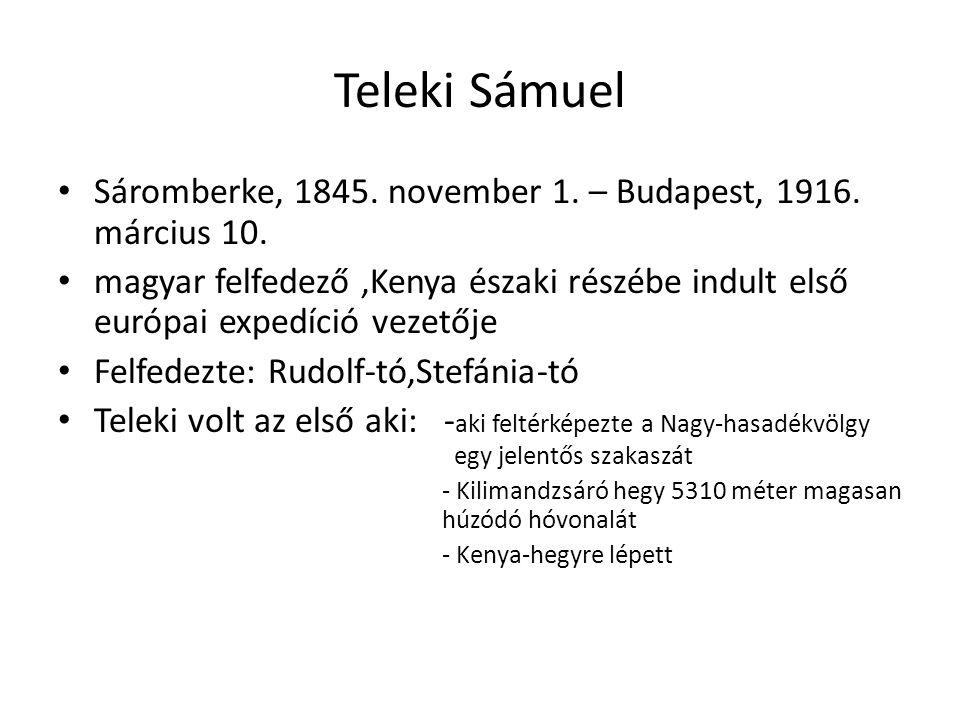 Széchenyi ZsigmondKittenberger KálmánTeleki Sámuel