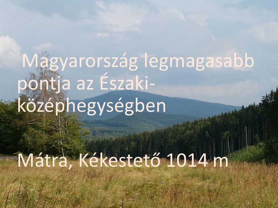 Magyarország legmagasabb pontja az Északi- középhegységben Mátra, Kékestető 1014 m