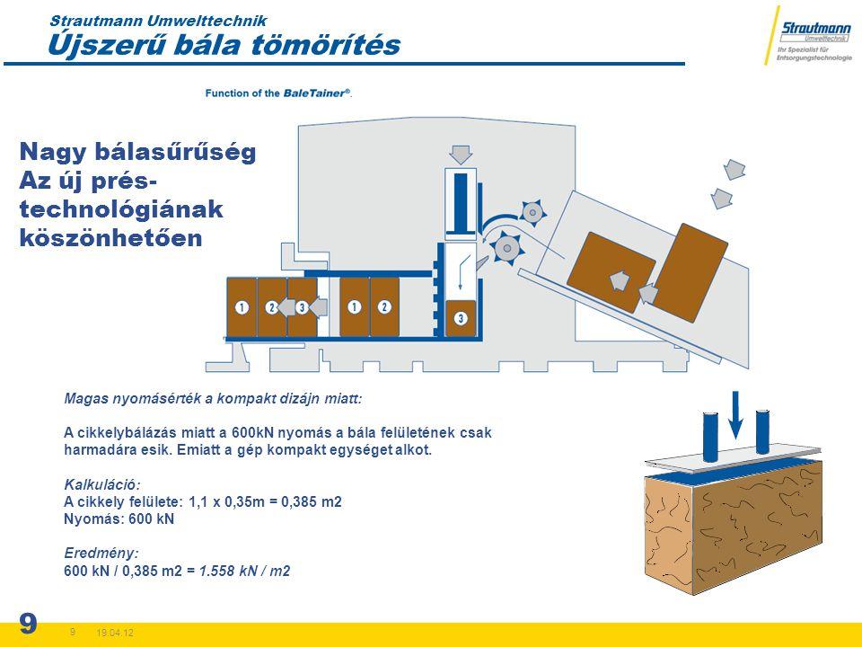 Strautmann Umwelttechnik 19.04.12 10 100% szállítási kapacitás kihasználás