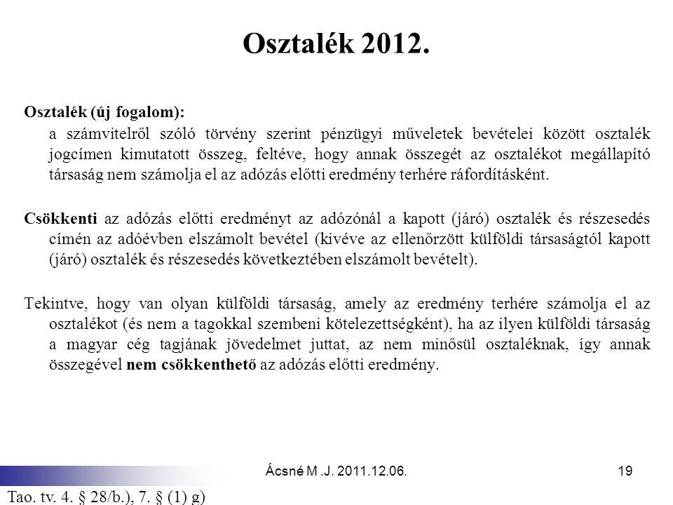 Ácsné M.J.2011.12.06.19 Osztalék 2012.