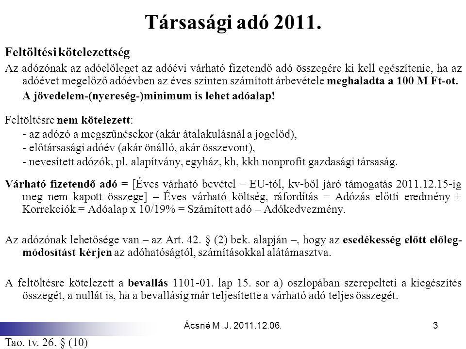 Ácsné M.J.2011.12.06.3 Társasági adó 2011.