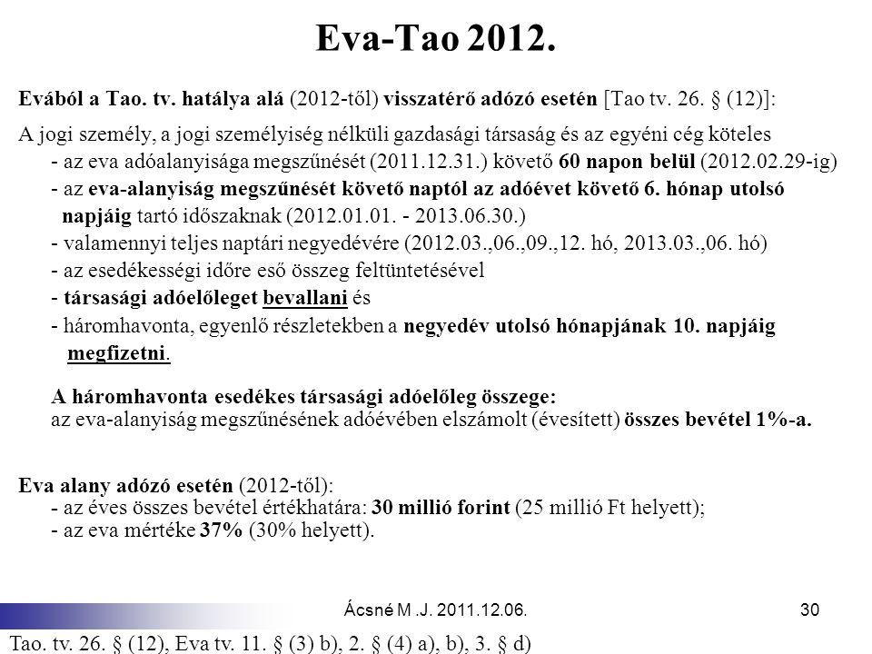Ácsné M.J.2011.12.06.30 Eva-Tao 2012. Evából a Tao.