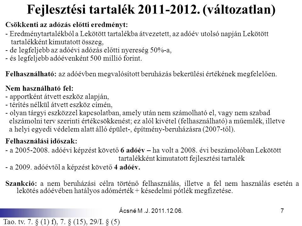 Ácsné M.J.2011.12.06.7 Fejlesztési tartalék 2011-2012.