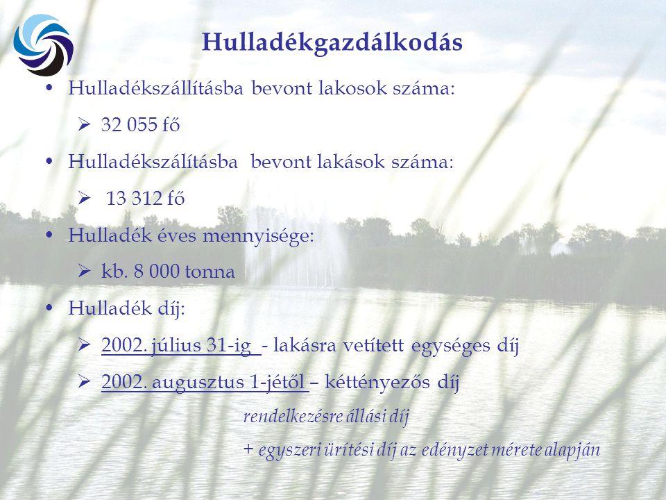 Jogszabályi háttér 242/2000.(XII.23.) Korm. Rendelet 4.§ és 7.§ (2) 4.