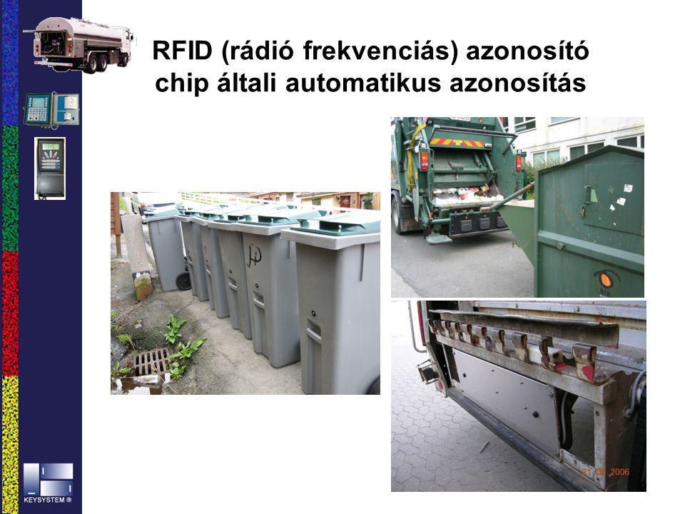 RFID (rádió frekvenciás) azonosító chip általi automatikus azonosítás