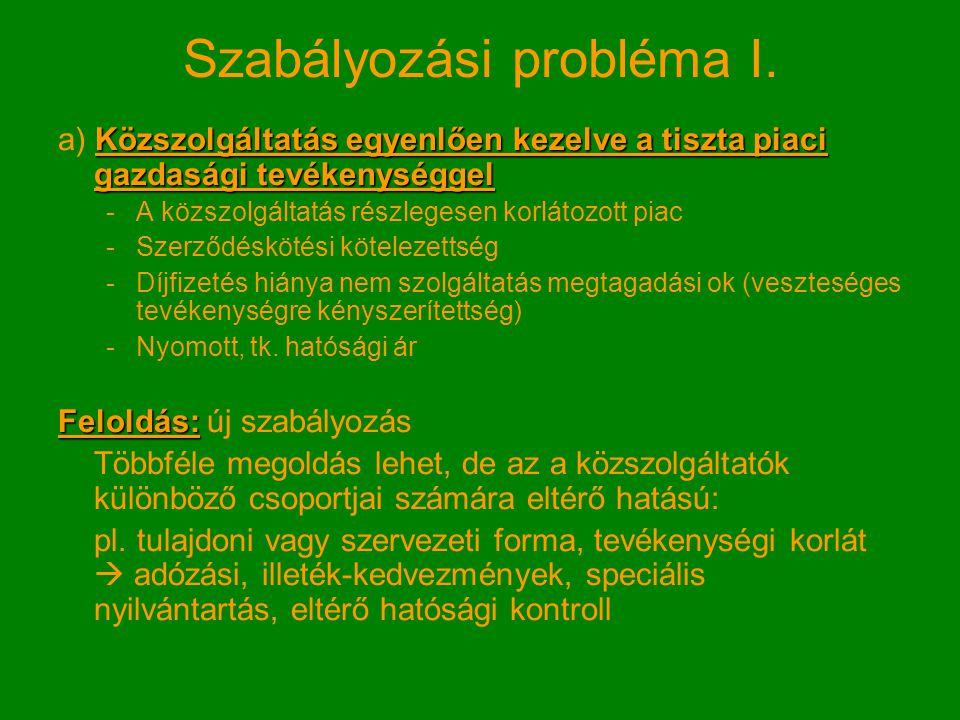Szabályozási probléma II.
