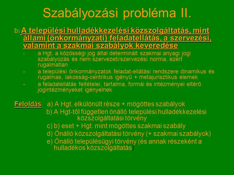 Szabályozási probléma III.