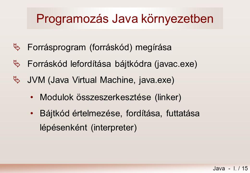 Java - I.