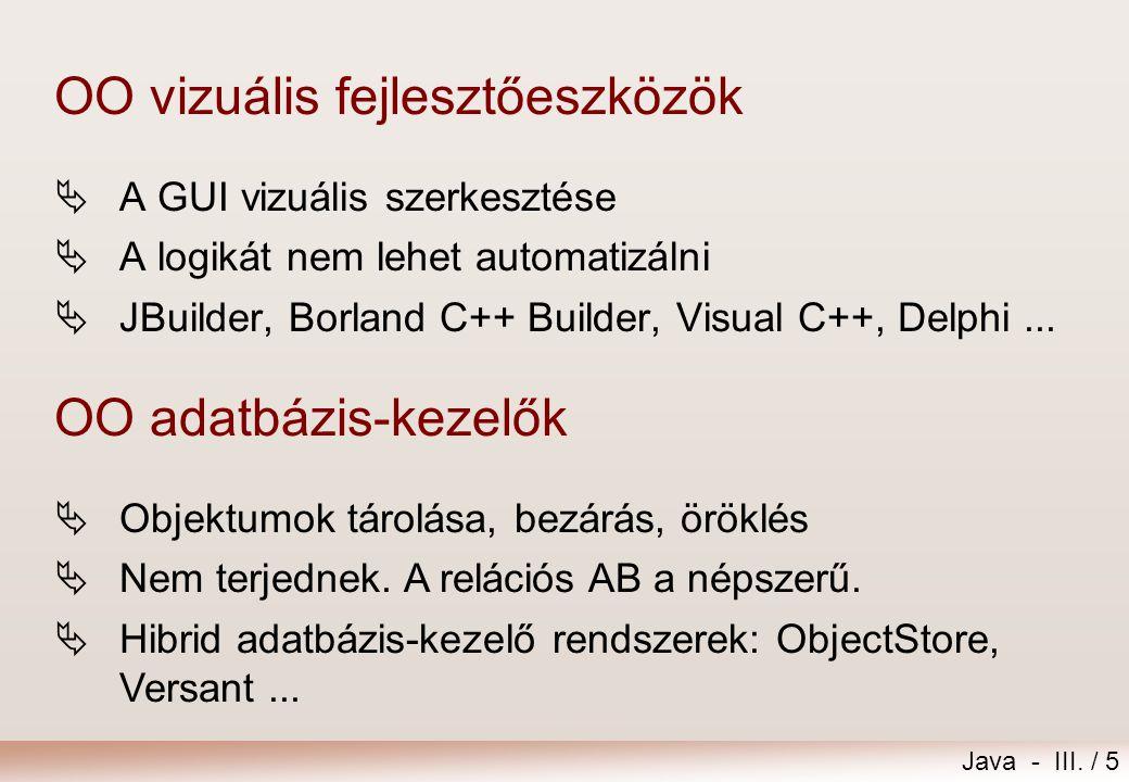 Java - III./ 16 java | applet | | Applet | |...
