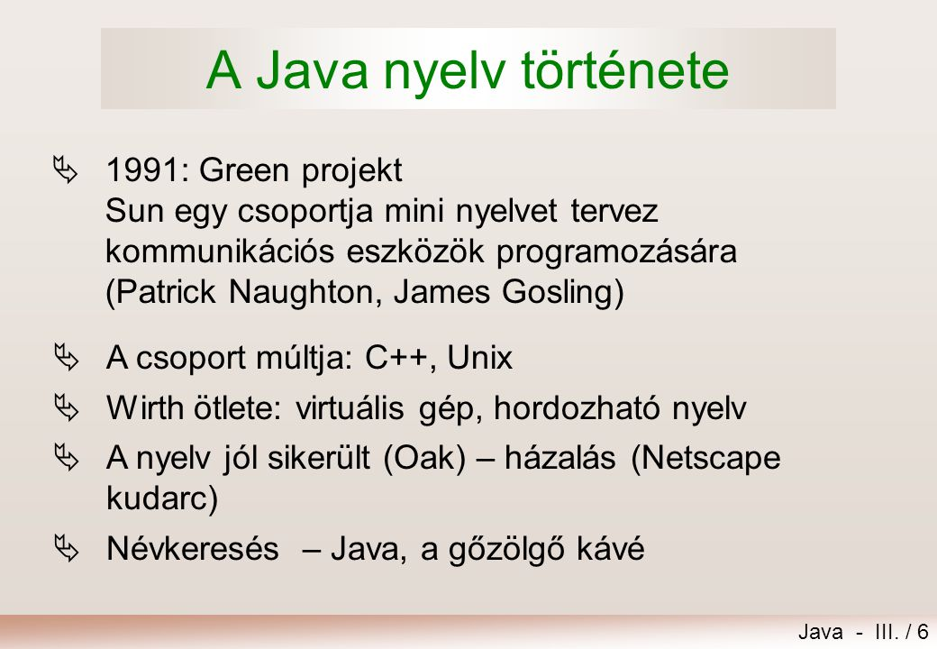 Java - III.