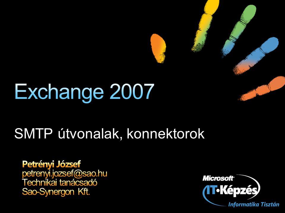 SMTP útvonalak, konnektorok