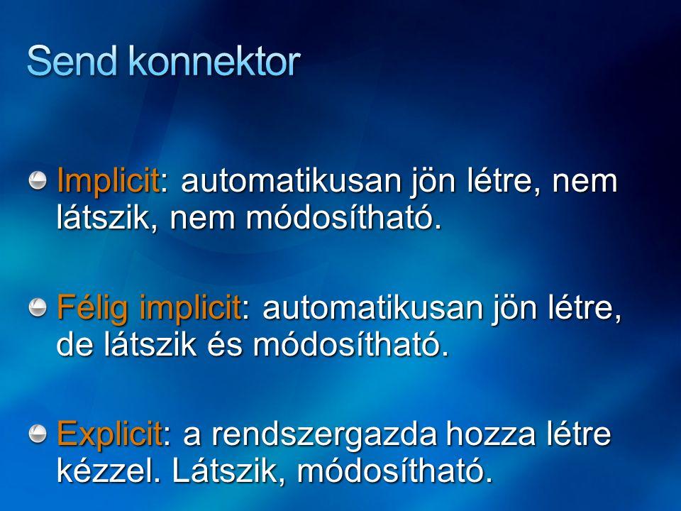 Implicit: automatikusan jön létre, nem látszik, nem módosítható. Félig implicit: automatikusan jön létre, de látszik és módosítható. Explicit: a rends