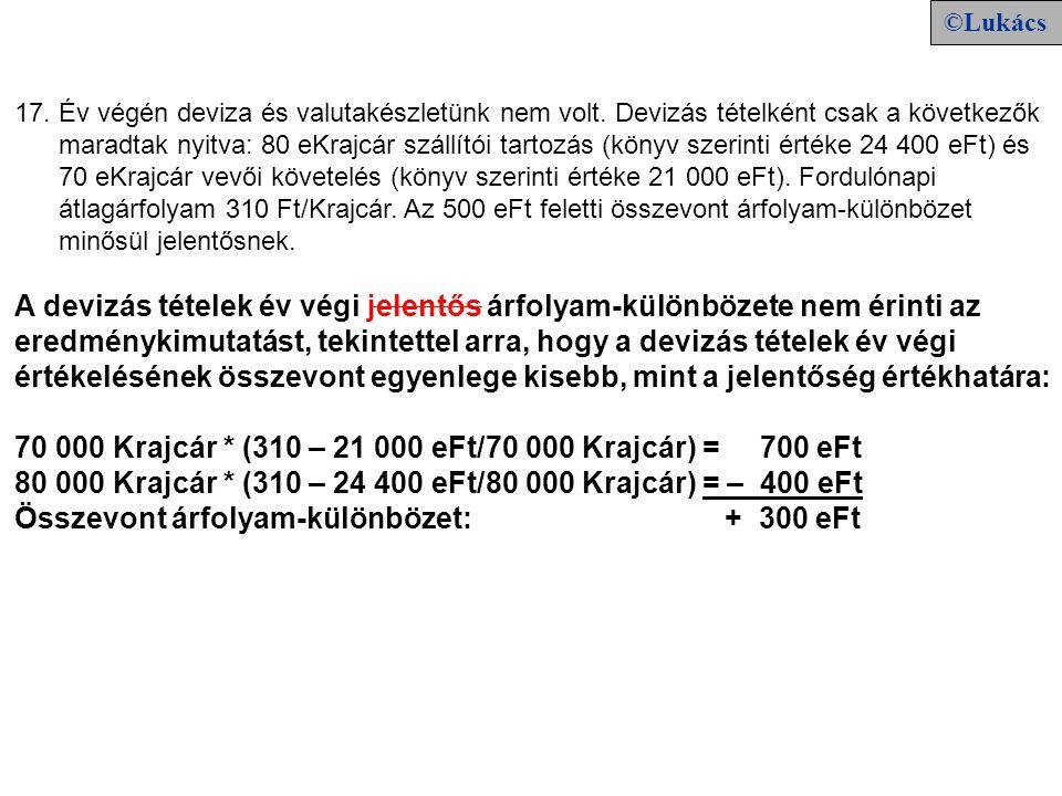 18.20X1. X. 1-jén 510 eFt készpénzért vásároltunk 500 eFt névértékű, évi 9% kamatot fizető, 20X1.