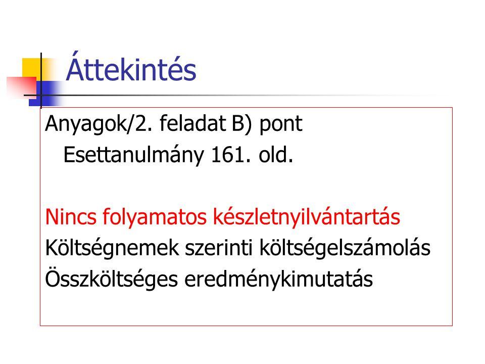Nyitás 4. Belföldi szállítók 2. Anyagok 4. Előzetes áfa Ny. 9 560 © Pavlik