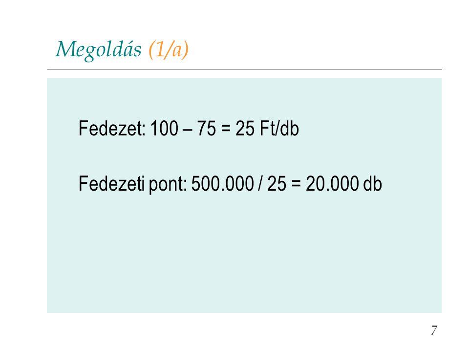 Kérdések (3b) 38 Milyen lenne ebben az esetben a gép helykihasználása, valamint a realizált nyereség, ha tudjuk, hogy egy utasra eső változó költségek nagysága 30 €, a gép indításának fix költsége pedig 70 000 €-ra rúg.