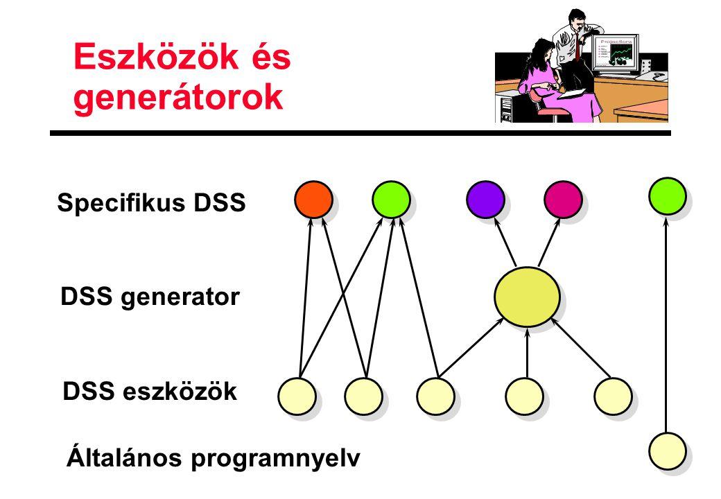Eszközök és generátorok DSS eszközök DSS generator Specifikus DSS Általános programnyelv