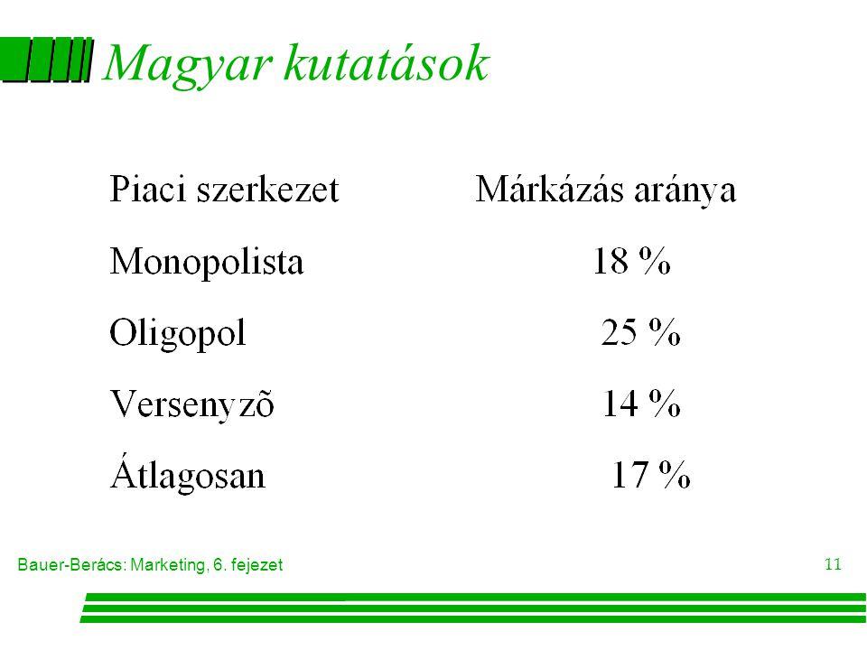 Bauer-Berács: Marketing, 6. fejezet 11 Magyar kutatások
