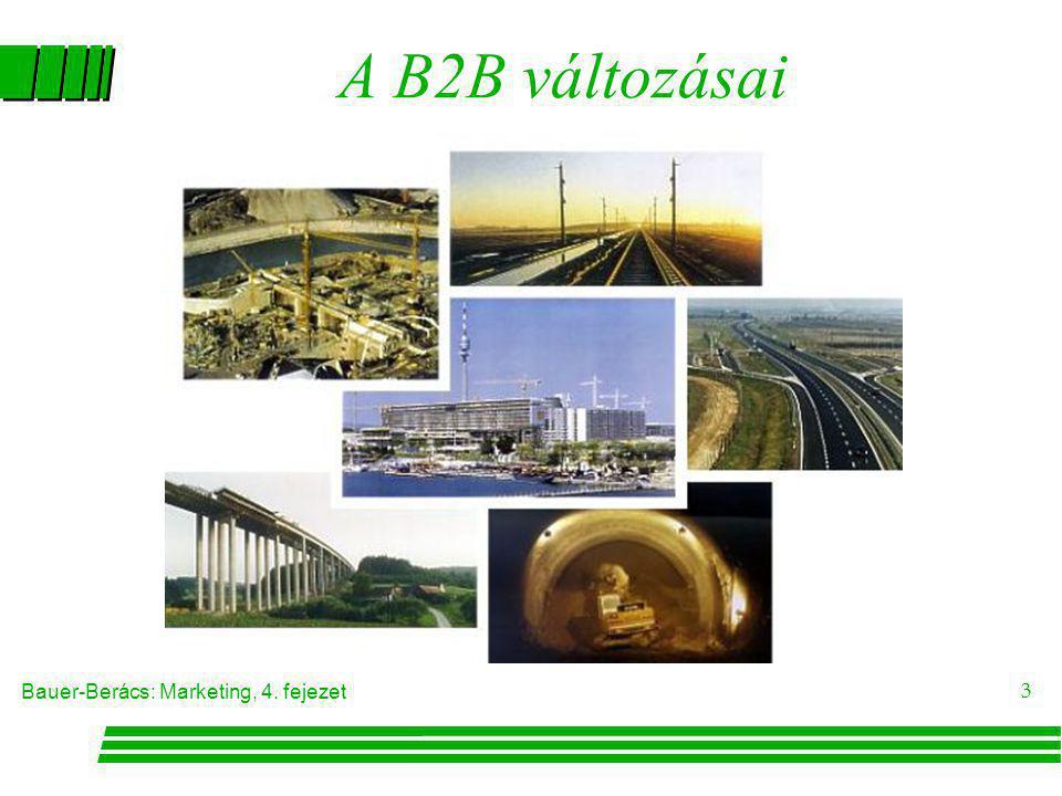 Bauer-Berács: Marketing, 4. fejezet 3 A B2B változásai