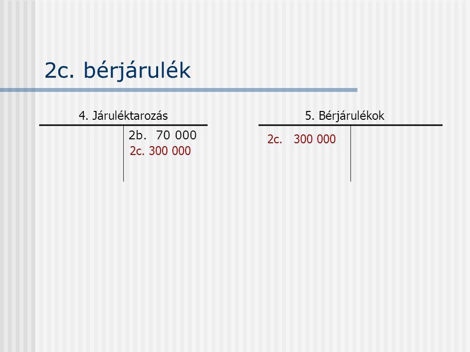 5. Bérjárulékok 2b. 70 000 4. Járuléktarozás 2c. 300 000 2c. bérjárulék 2c. 300 000