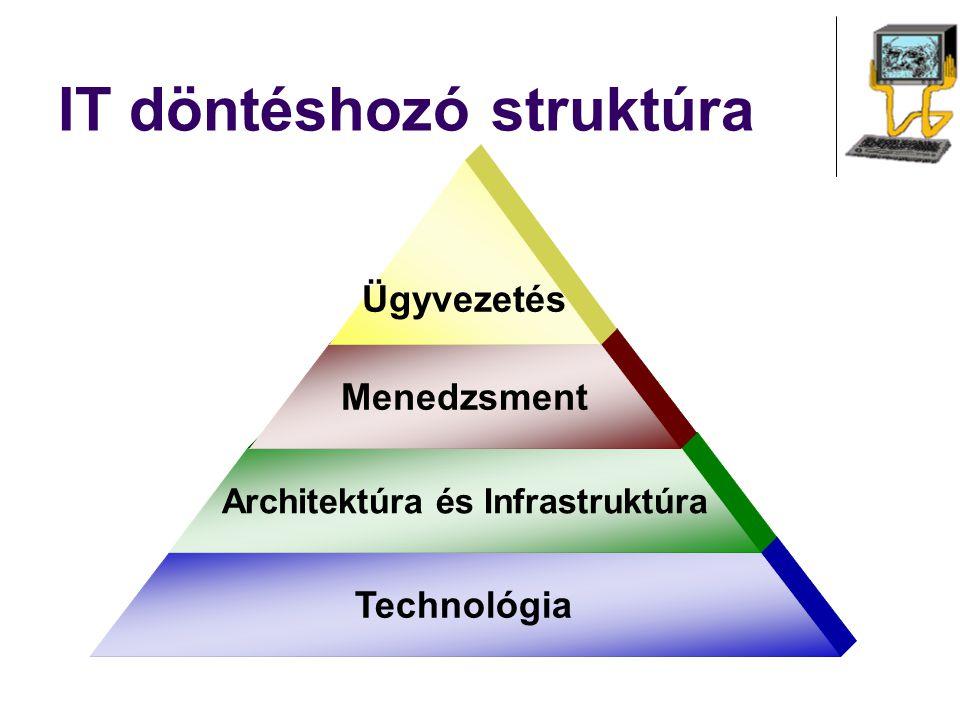 IT döntéshozó struktúra Technológia Architektúra és Infrastruktúra Menedzsment Ügyvezetés