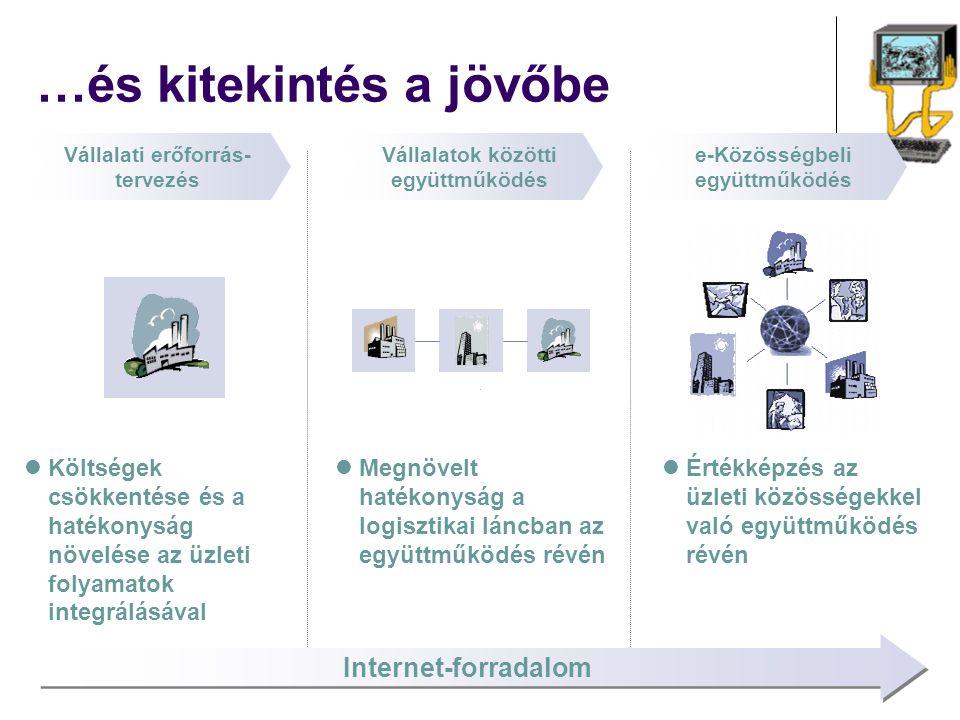 Költségek csökkentése és a hatékonyság növelése az üzleti folyamatok integrálásával Megnövelt hatékonyság a logisztikai láncban az együttműködés révén