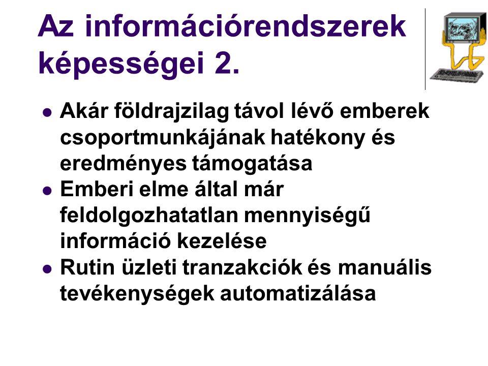 Információrendszerek bevezetésének szakaszai Tenderkiírás - választás Üzleti folyamatok újraszervezése Rendszerbevezetés Koncepcionális tervezés Prototípus tervezés Tesztelés Éles üzembeállítás Utómunkálatok