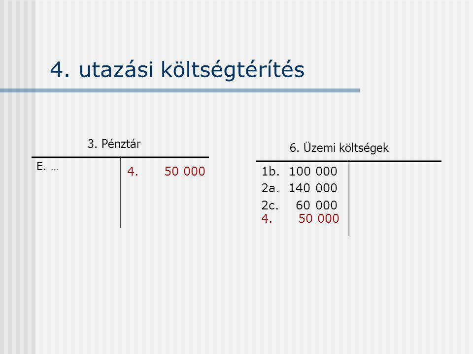 4. utazási költségtérítés E. … 1b. 100 000 2a. 140 000 2c.