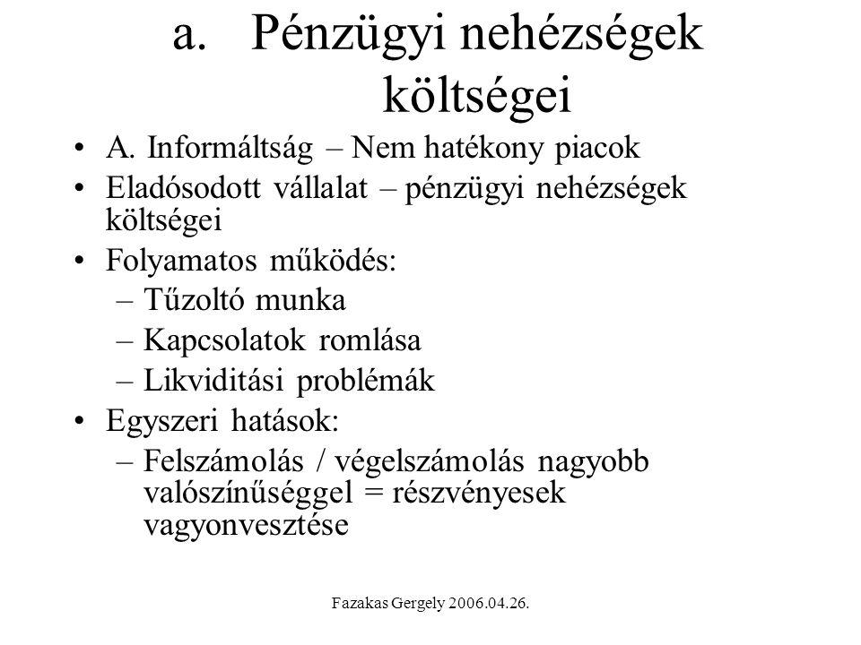 Fazakas Gergely 2006.04.26.a.Pénzügyi nehézségek költségei A.