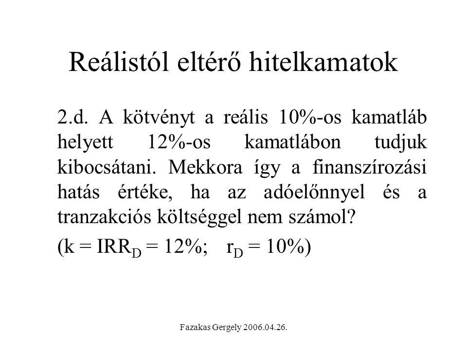 Fazakas Gergely 2006.04.26.Reálistól eltérő hitelkamatok 2.d.