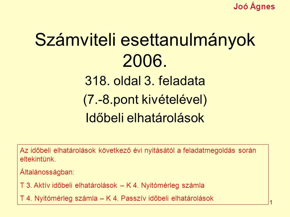 1 Számviteli esettanulmányok 2006.318. oldal 3.