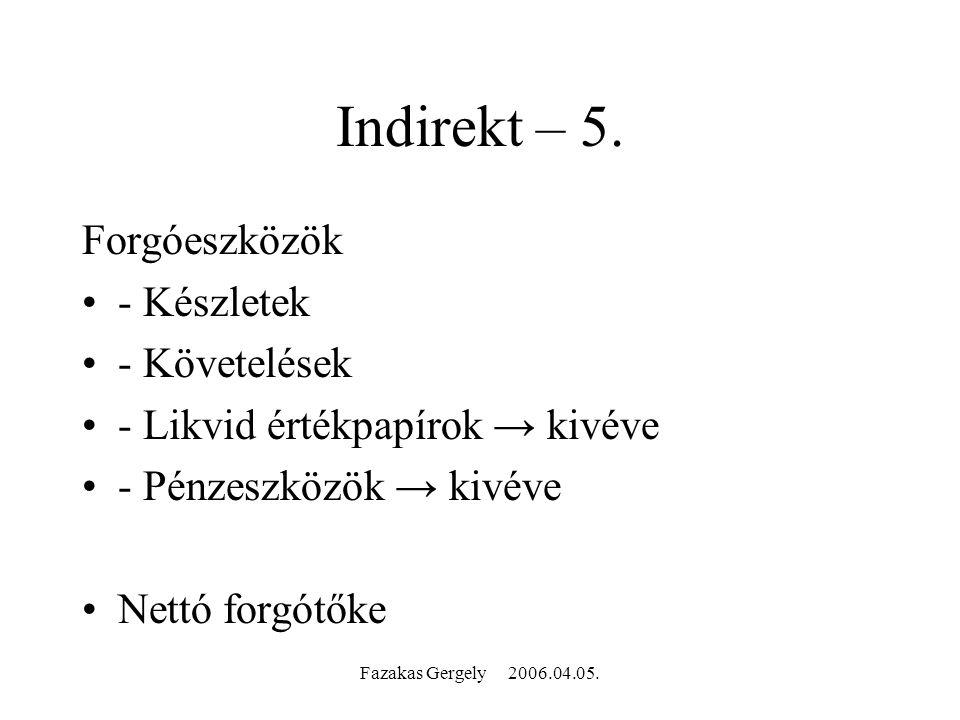 Fazakas Gergely 2006.04.05. Indirekt – 5.