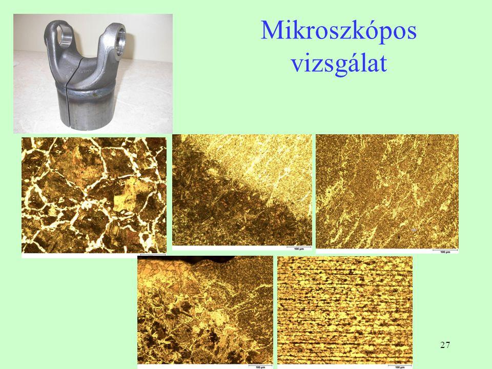 27 Mikroszkópos vizsgálat