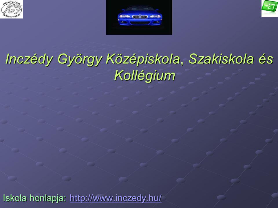 Inczédy György Középiskola, Szakiskola és Kollégium Iskola honlapja: h h h h h tttt tttt pppp :::: //// //// wwww wwww wwww.... iiii nnnn cccc zzzz ee