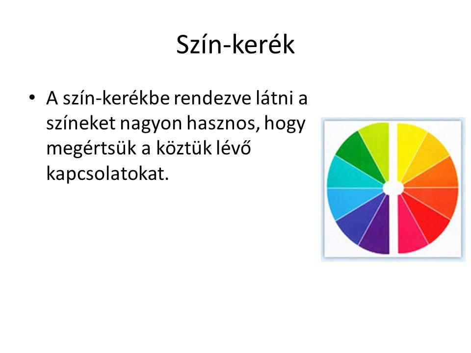 Elsődleges színek Vörös, kék, sárga – az elsődleges- vagy alapszínek.