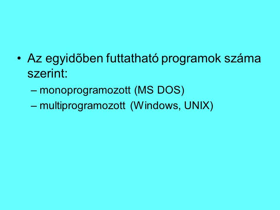 A korszerű Windows operációs rendszer : XP jól bevált, stabil (2014-ig támogatott) Windows 7 2009-ben kiadott..
