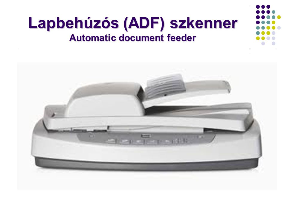 Lapbehúzós (ADF) szkenner Automatic document feeder