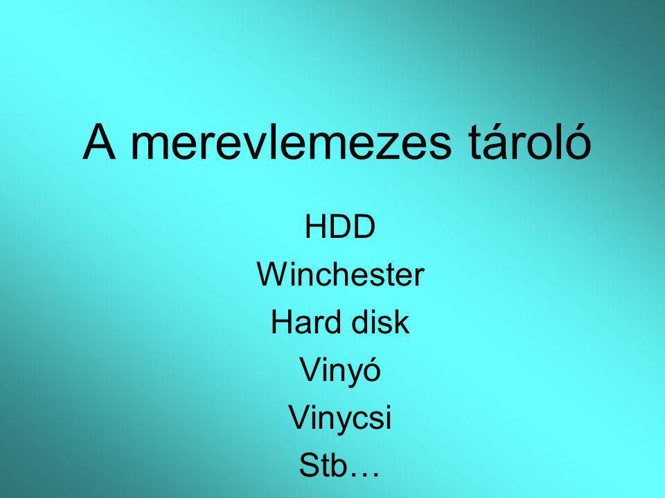 A merevlemezes tároló HDD Winchester Hard disk Vinyó Vinycsi Stb…