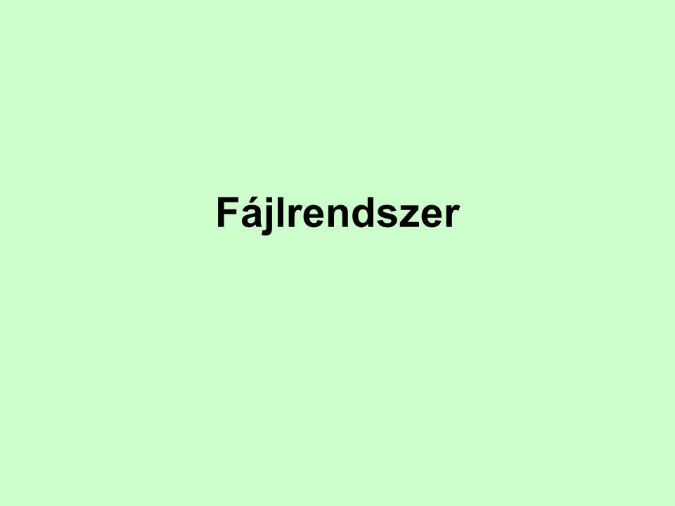FAT fájlrendszerek (FAT12, FAT16, FAT32) A Microsoft operációs rendszerei számára a FAT (Fat Allocation Table, Fájl Allokációs Tábla) fájlrendszereket fejlesztette ki.
