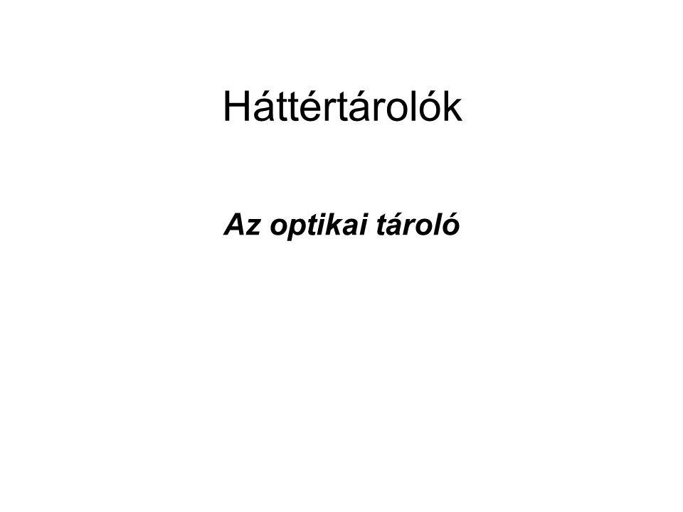 Háttértárolók Az optikai tároló