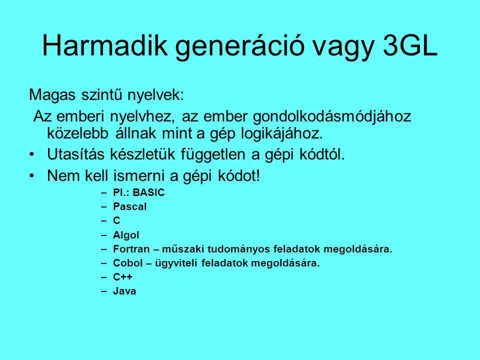 Negyedik generáció, vagy 4GL:.