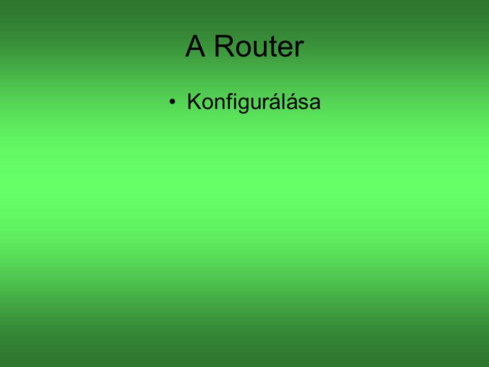 A Router Konfigurálása